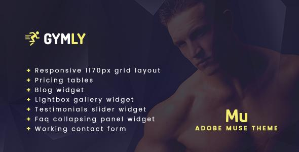 Gymly - Responsive Adobe Muse Theme